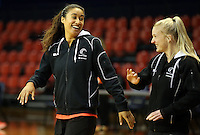 09.10.2016 Silver Ferns Maria Tutaia in action during training at the Silver Dome in Launceston in Australia. Mandatory Photo Credit ©Michael Bradley.