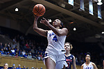 DURHAM, NC - DECEMBER 29: Duke's Lexie Brown. The Duke University Blue Devils hosted the Liberty University Flames on December 29, 2017 at Cameron Indoor Stadium in Durham, NC in a Division I women's college basketball game. Duke won the game 68-51.