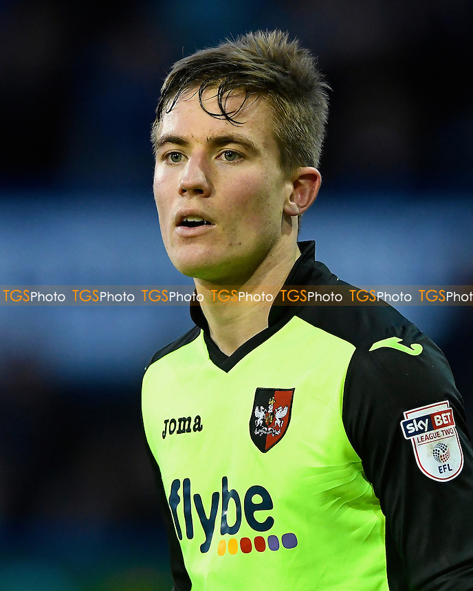 David Wheeler of Exeter City during Portsmouth vs Exeter City, Sky Bet EFL League 2 Football at Fratton Park on 28th January 2017