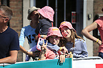 Young fans at sign on in Verviers before the start of Stage 3 of the 104th edition of the Tour de France 2017, running 212.5km from Verviers, Belgium to Longwy, France. 3rd July 2017.<br /> Picture: Eoin Clarke | Cyclefile<br /> <br /> <br /> All photos usage must carry mandatory copyright credit (&copy; Cyclefile | Eoin Clarke)