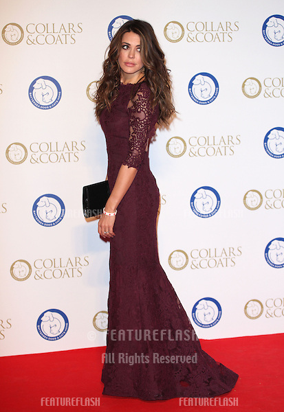 Danielle Lineker arriving for the Collars And Coats Ball, at Battersea Evolution, London. 07/11/2013 Picture by: Alexandra Glen / Featureflash
