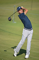 Joaquin Niemann (CHL) watches his tee shot on 11 during round 1 of the AT&T Byron Nelson, Trinity Forest Golf Club, at Dallas, Texas, USA. 5/17/2018.<br /> Picture: Golffile | Ken Murray<br /> <br /> <br /> All photo usage must carry mandatory copyright credit (© Golffile | Ken Murray)