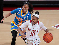 Stanford, CA - February 6, 2017:  Briana Roberson at Maples Pavilion. The Stanford Cardinal lost to UCLA, 85-76
