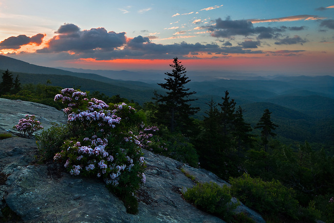 Spring Sunrise over the Blue Ridge Highlands