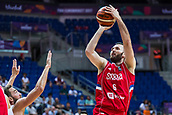 7th September 2017, Fenerbahce Arena, Istanbul, Turkey; FIBA Eurobasket Group D; Belgium versus Serbia; Power Forward Milan Macvan #6 of Serbia  shoots on the basket during the match