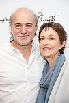 Peter Friedman and Deanna Dunagan during the first day of rehearsals for the Playwrights Horizons production of 'The Treasurer' on August 1, 2017 at the Playwrights rehearsal studio in New York City.