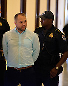 New York City Councilman Corey Johnson is arrested by United States Capitol Police as he leads a protest against the Republican bill to replace the Affordable Care Act (ACA), also known as Obamacare, outside the US Senate office of US Senate Majority Leader Mitch McConnell on Capitol Hill in Washington, DC on Wednesday, July 19, 2017. <br /> Credit: Ron Sachs / CNP<br /> (RESTRICTION: NO New York or New Jersey Newspapers or newspapers within a 75 mile radius of New York City)