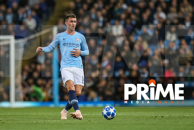 Aymeric LAPORTE of Manchester City during the UEFA Champions League match between Manchester City and Olympique Lyonnais at the Etihad Stadium, Manchester, England on 19 September 2018. Photo by David Horn / PRiME Media Images.