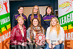 Glenbeigh Falcons winners of Division 2 League and Cup, front l-r  Mary Fogarty, Megan O'Connell and Julie O'Connell. Back l-r Ann Marie O'Donoghue, Cliona Coffey and Ann Smith. at the KABB Basketball awards night at the Kingdom Greyhound Stadium on Tuesday