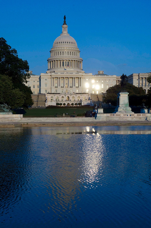WASHINGTON, DC - Sept. 28: View of the West Front of the U.S. Capitol near sunset. (Photo by Scott J. Ferrell/Congressional Quarterly).