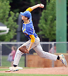 MIDDLETOWN CT. 09 June 2018-060918SV09- #15 Austen Green of Seymour pitches against Wolcott in the 2nd inning during the CIAC Class M baseball championship in Middletown Saturday. <br /> Steven Valenti Republican-American