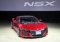 "August 25, 2016, Tokyo, Japan - Japanese automobile giant Honda Motor's sports car ""NSX"", fully redesigned for the first time in 26 years is displayed in Tokyo on Thursday, August 25, 2016. The NSX, which has 3.5-litter turbo charged engine with three motors hybrid system, will go on sale here next February.    (Photo by Yoshio Tsunoda/AFLO) LWX -ytd-"