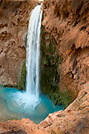 Mooney Falls is 190 feet of pure beauty veiled by intricate travertine coves. There is a fantastic chained route through travertine caves to reach the bottom!