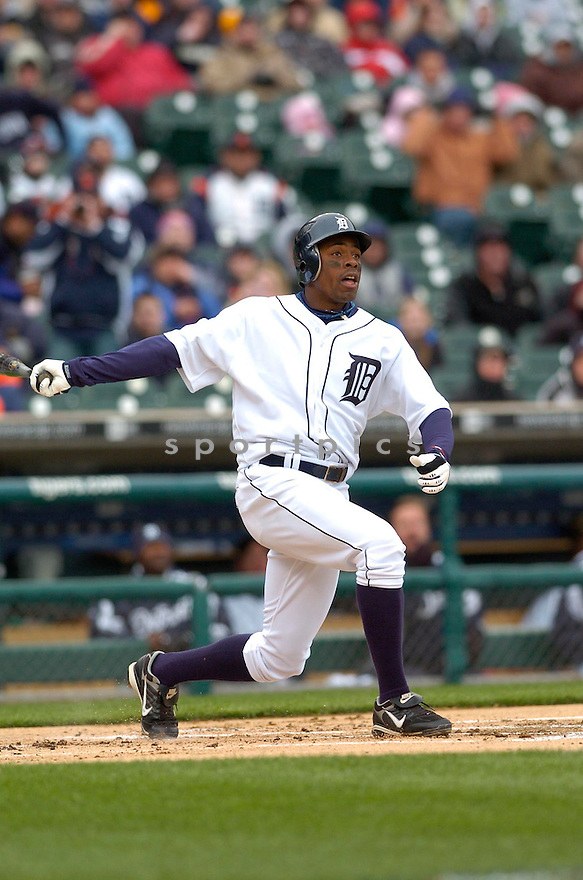 CURTIS GRANDERSON, of the Detroit Tigers during their game against the Toronto Blue Jays, on April 4, 2007 in Detroit, Michigan...Tigers win 10-9....DAVID DUROCHIK / SPORTPICS