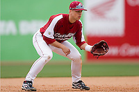 Third baseman James Darnell (4) of the South Carolina Gamecocks on defense versus the East Carolina Pirates at Sarge Frye Field in Columbia, SC, Sunday, February 24, 2008.