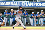 31 May 2016: Nova Southeastern's Andres Visbal. The Nova Southeastern University Sharks played the Lander University Bearcats in Game 8 of the 2016 NCAA Division II College World Series  at Coleman Field at the USA Baseball National Training Complex in Cary, North Carolina. Nova Southeastern won the game 12-1.