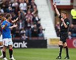Kevin Thomson sent off by referee Craig Thomson