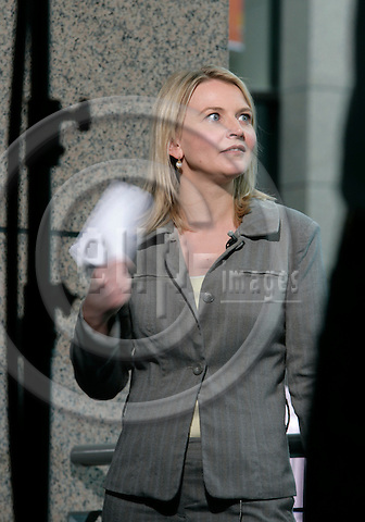 BRUSSELS - BELGIUM - 22 JUNE 2007 -- Reporter Marie-Louise MOLLER is based in Brussels Bloomberg TV. Previously, she worked as a reporter focusing on the European Union for Reuters..  Photo: Erik Luntang/EUP-IMAGES
