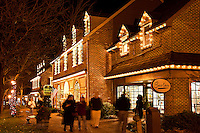 Christmas holiday shopping , Peddlers Village, Lahaska, Pennsylvania, PA, USA