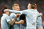 Celta de Vigo's Hugo Mallo, Daniel Wass, Pablo Hernandez, John Guidetti and Iago Aspas celebrate goal during Spanish Kings Cup match. January 27,2016. (ALTERPHOTOS/Acero)