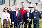 Kate O'Leary, Pat Dawson Killarney National Park regional manager, Minister Jimmy deenihan, Harry O'Donoghue Killarney house caretaker, Senator Paul Coughlan and Conor Hennigan
