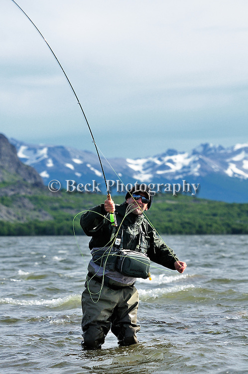 FISHING THE LAKE AT TRES VALLES FOR RAINBOW TROUT