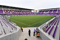 Orlando, FL - Saturday July 20, 2019:  Exploria Stadium prior to a regular season National Women's Soccer League (NWSL) match between the Orlando Pride and the Sky Blue FC at Exploria Stadium.