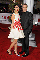 "1 February 2016 - Westwood, California - Amal Clooney, George Clooney. ""Hail, Caesar!"" Los Angeles Premiere held at the Regency Village Theatre. Photo Credit: Byron Purvis/AdMedia"