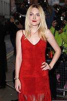 Dakota Fanning driving for the Effie Gray premiere, Curzon Mayfair, London. 05/10/2014 Picture by: Alexandra Glen / Featureflash