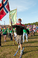 Norway arrival to the stage. Photo: Malin Serner/SCOUTERNA