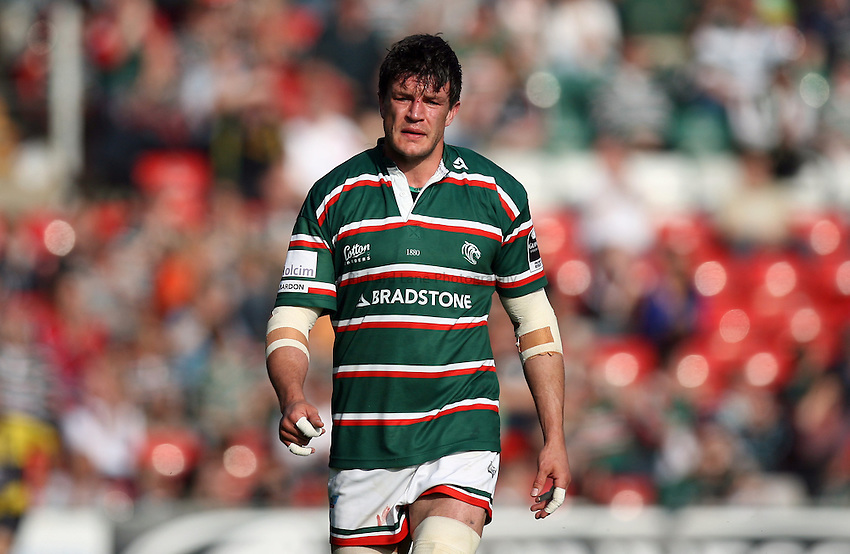 Photo: Rich Eaton...Leicester Tigers v Bristol Rugby. Guinness Premiership. 05/05/2007. Leicester's Martin Corry.