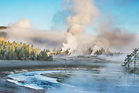 """Blue Giant""  Yellowstone National Park  Giant Geyser 