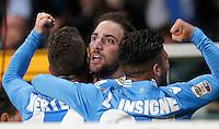 Esultanza dopo il gol di Gonzalo Higuain Napoli, goal celebration, Torino 17-3-2014, Stadio Olimpico, Football Calcio 2013/2014 Serie A, Torino - Napoli, Foto Marco Bertorello/Insidefoto