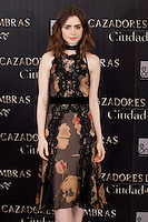 Lily Collins attends a photocall for 'The Mortal Instruments: City Of Bones' ('Cazadores de Sombras: Ciudad de Hueso') at Villamagna Hotel on August 22, 2013 in Madrid, Spain. (Alterphotos/Victor Blanco)
