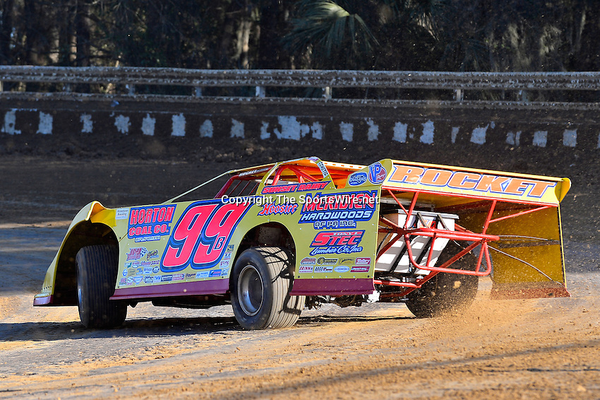 Feb 16, 2014; 4:39:20 PM; Ocala, FL., USA; The Third Annual Bubba Army Winter Nationals World Of Outlaws Super Late Models paying $12,000 to win at Bubba RaceWay Park.  Mandatory Credit: (thesportswire.net)