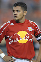 New York Red Bulls captain and midfielder Amado Guevara (20) during pregame presentations.  DC United defeated the New York Red Bulls 4-3. DC United earned a top seed in the 2006 MLS Playoffs and will enjoy home field advantage for the entire Eastern Conference Playoffs. Saturday, September 23, 2006, at RFK Stadium.