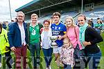 Padraig O'Se, Paddy O'Se, Michelle O'Shea, Tomas O'Se, Ellie Ni Se, Niamh O'Brien and Casey Lambe, Dunquin after Kerry won the Junior all Ireland in Portlaoise on Saturday.
