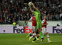 Torwart Emiliano Martinez (Arsenal London) hält - 19.09.2019:  Eintracht Frankfurt vs. Arsenal London, UEFA Europa League, Gruppenphase, Commerzbank Arena<br /> DISCLAIMER: DFL regulations prohibit any use of photographs as image sequences and/or quasi-video.