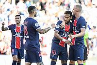 21st July 2020, Parc de Princes, Paris, France; Friendly club football, PSG versus Celtic;   NEYMAR JR of PSG celebrates his goal with Mauro ICARDI  and Mitchel BAKKER