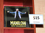 Barry Manilow merchandise booth for 'Manilow On Broadway' at The St. James Theatre in New York City on 1/22/2013