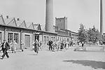United Villatehtaat Oy's employees leaving the factory, Hyvinkaa, Uusimaa, Finland 1920s - 1930s