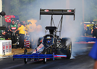 May 16, 2014; Commerce, GA, USA; NHRA top fuel dragster driver Pat Dakin during qualifying for the Southern Nationals at Atlanta Dragway. Mandatory Credit: Mark J. Rebilas-USA TODAY Sports