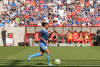 Bridgeview, IL - Sunday June 12, 2016: Samantha Johnson during a regular season National Women's Soccer League (NWSL) match between the Chicago Red Stars and the Portland Thorns at FC Toyota Park.