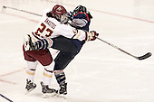 Andie Anastos (BC - 23), Leah Lum (UConn - 7) - The Boston College Eagles defeated the visiting UConn Huskies 4-0 on Friday, October 30, 2015, at Kelley Rink in Conte Forum in Chestnut Hill, Massachusetts.