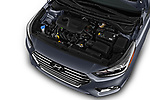 Car stock 2018 Hyundai Accent Limited 4 Door Sedan engine high angle detail view