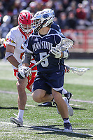 College Park, MD - April 8, 2017: Penn State Nittany Lions Kevin Hill (5) in action during game between Penn State and Maryland at  Capital One Field at Maryland Stadium in College Park, MD.  (Photo by Elliott Brown/Media Images International)