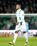 Nederland, Groningen, 15 december 2012.Eredivisie.Seizoen 2012-2013.FC Groningen-VVV Venlo.Leandro Bacuna van FC Groningen verlaat na een rode kaart het veld.
