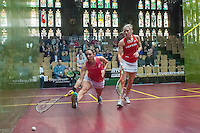 Laura Massaro (ENG) vs. Camille Serme (FRA) in the women's semifinals of the 2014 METROsquash Windy City Open held at the University Club of Chicago in Chicago, IL on March 2, 2014