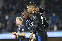 San Jose, CA - Saturday March 03, 2018: Danny Hoesen during a 2018 Major League Soccer (MLS) match between the San Jose Earthquakes and Minnesota United FC at Avaya Stadium.