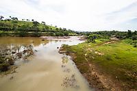 BRUMADINHO, MG, 01.02.2019: ROMPIMENTO DA BARRAGEM EM BRUMADINHO. Rio Paraopeba encontra rejeitos proximo ao  local do rompimento da barragem da Mineradora Vale, em Corrego do Feijao-Brumadinho, região metropolina de Belo Horizonte, MG, na manhã desta sexta feira (01) (foto Giazi Cavalcante/Codigo19)